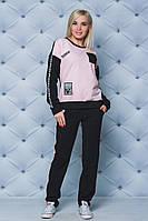 ЖІночий спортивний костюм з написами.Р-ри 42-58, фото 1