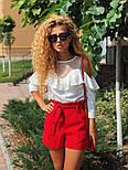 Женские модные красные шорты с высокой посадкой, фото 3