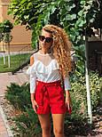 Женские модные красные шорты с высокой посадкой, фото 4