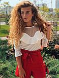 Женские модные красные шорты с высокой посадкой, фото 5