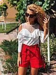 Женские модные красные шорты с высокой посадкой, фото 6