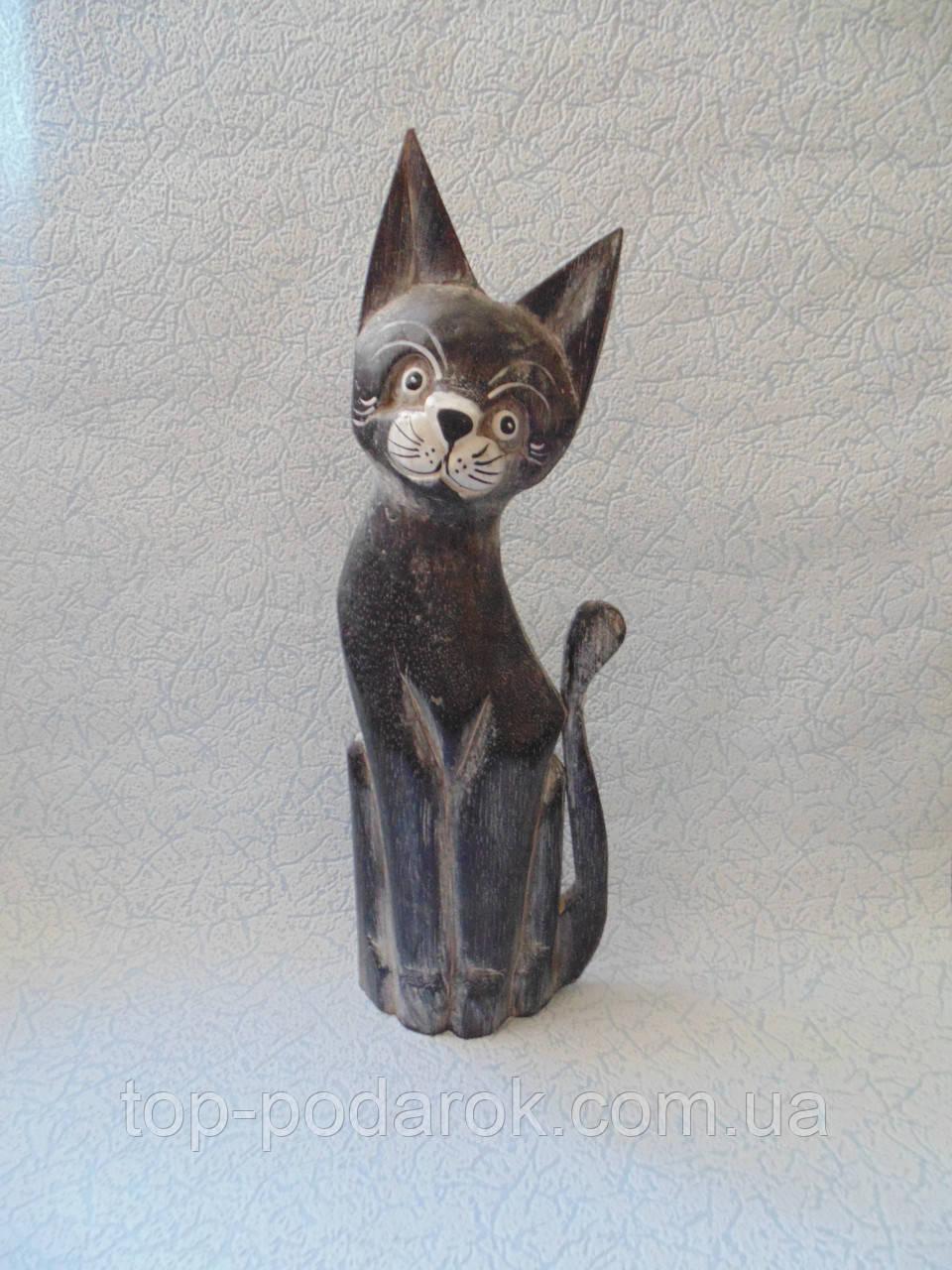 Статуэтка кошка деревянная высота 35 см