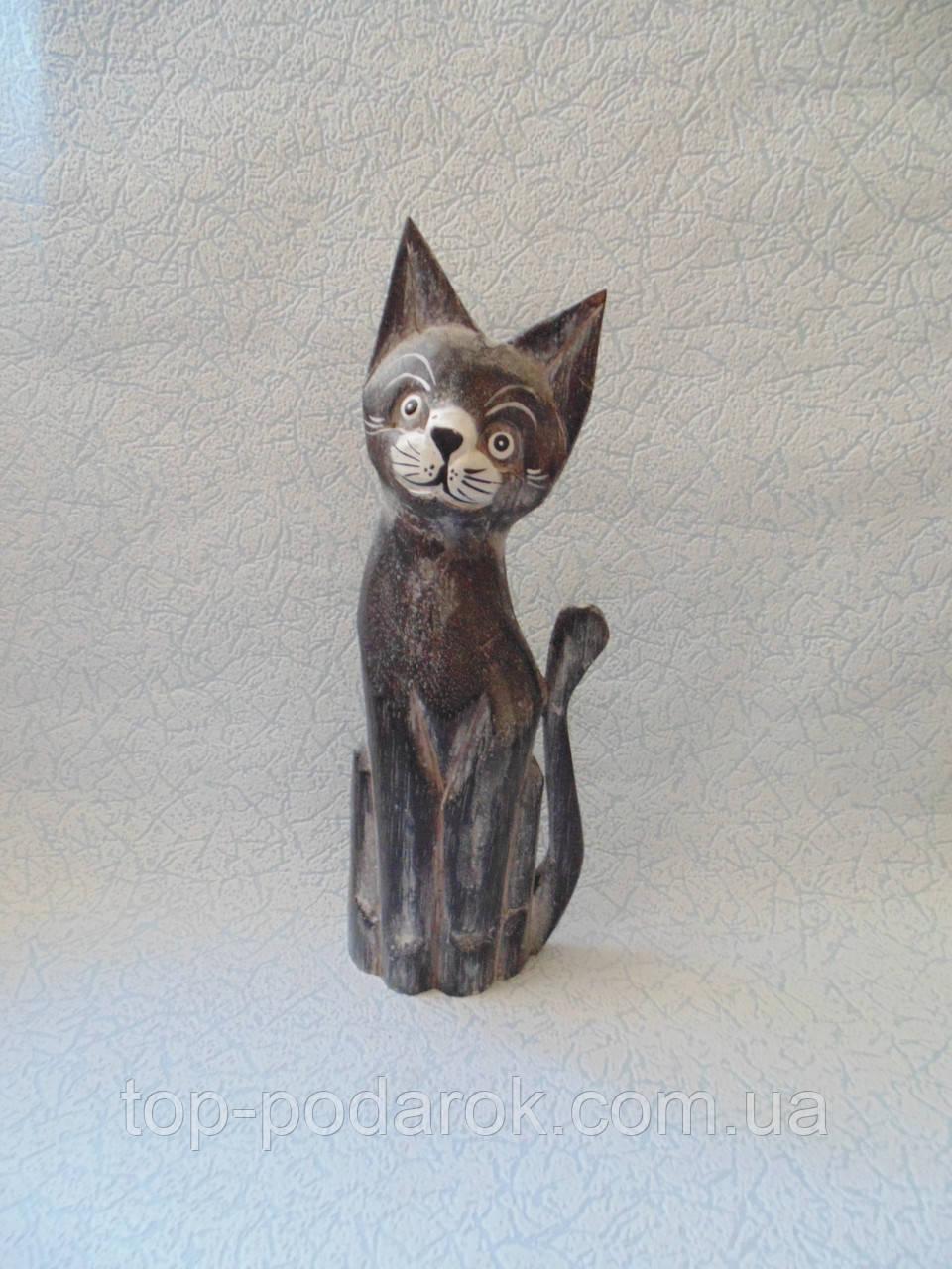 Статуэтка кошка деревянная высота 30 см