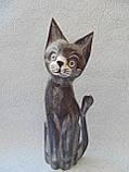 Статуэтка кошка деревянная высота 30 см, фото 2