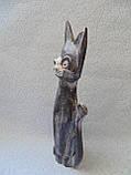 Статуэтка кошка деревянная высота 30 см, фото 3
