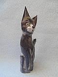 Статуэтка кошка деревянная высота 30 см, фото 4
