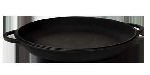 Крышка-сковорода литая с ровным дном 23х3см чугунная Ситон