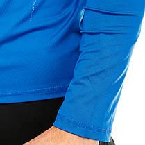 Футболка компрессионная Europaw ls top синяя, фото 3