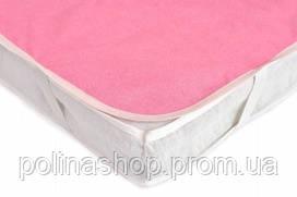 Наматрасник непромокаемый AQUA STOP розовый 60х120