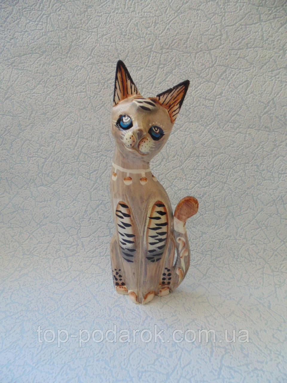Статуэтка кошка деревянная высота 25 см