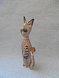 Статуэтка кошка деревянная высота 25 см, фото 2