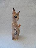 Статуэтка кошка деревянная высота 25 см, фото 3