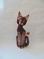 Статуэтка кошка деревянная высота 30 см, фото 1