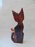 Статуэтка кошка деревянная высота 30 см, фото 5