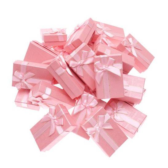 """Коробочка под набор """"Геометрия с бантом розовая 8 х 5 х 2,5 см"""""""