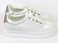 Высокие женские белые кроссовки Lonza