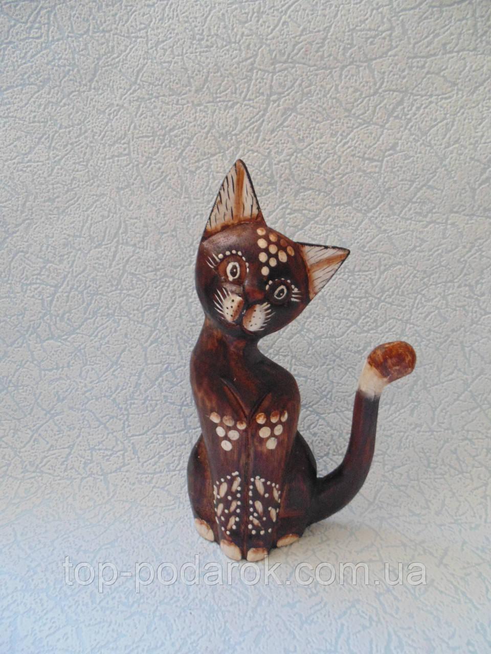 Статуэтка кошка деревянная высота 20 см