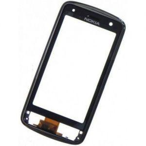 Тачскрин сенсор Nokia C6-01 черный в рамке
