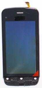 Тачскрин сенсор Nokia C5-03, C5-06 черный в рамке