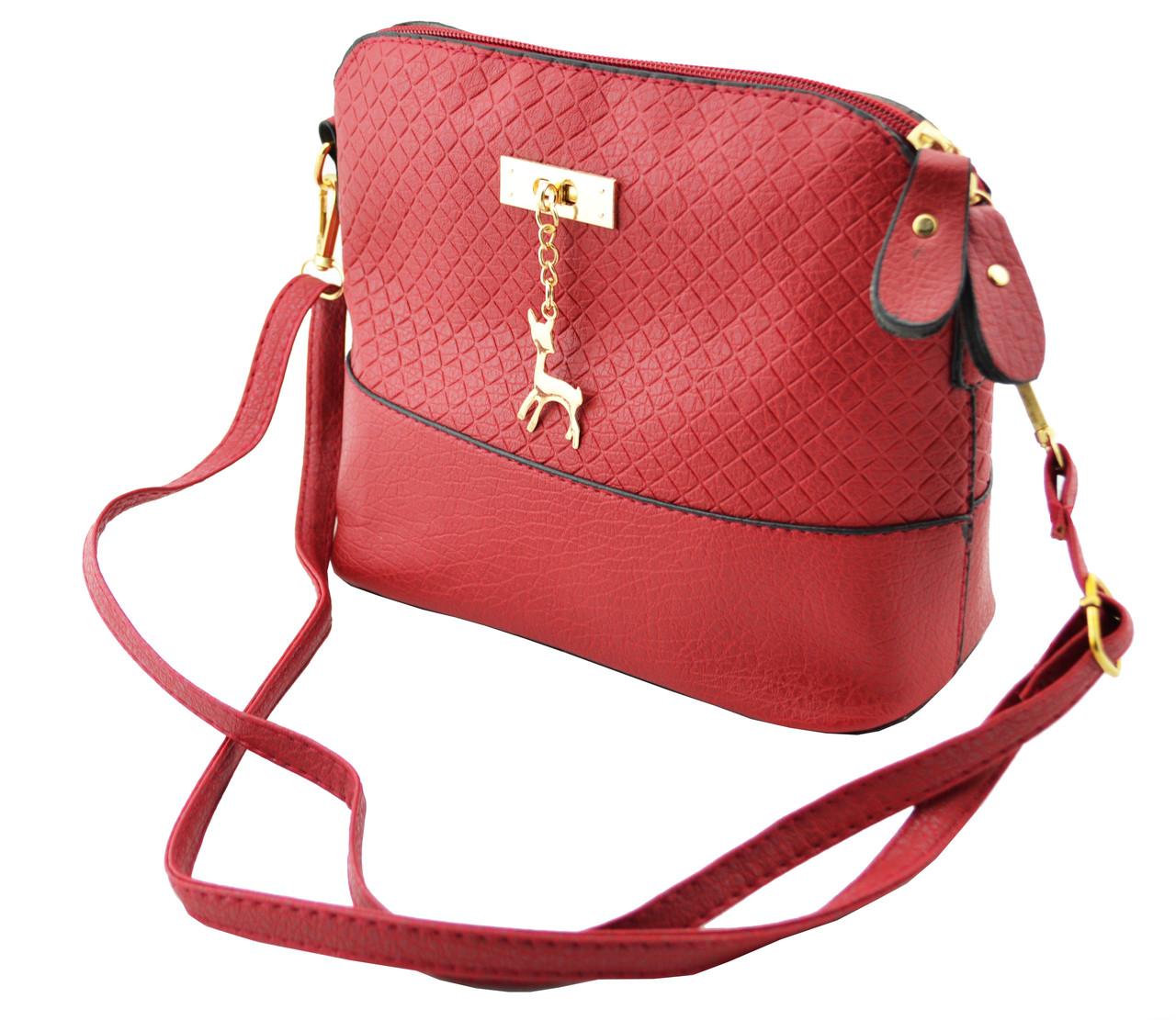 Жіноча сумка через плече Бембі червоний