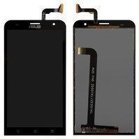 Дисплей с тачскрином Asus ZenFone 2 (ZE551ML) черный в рамке