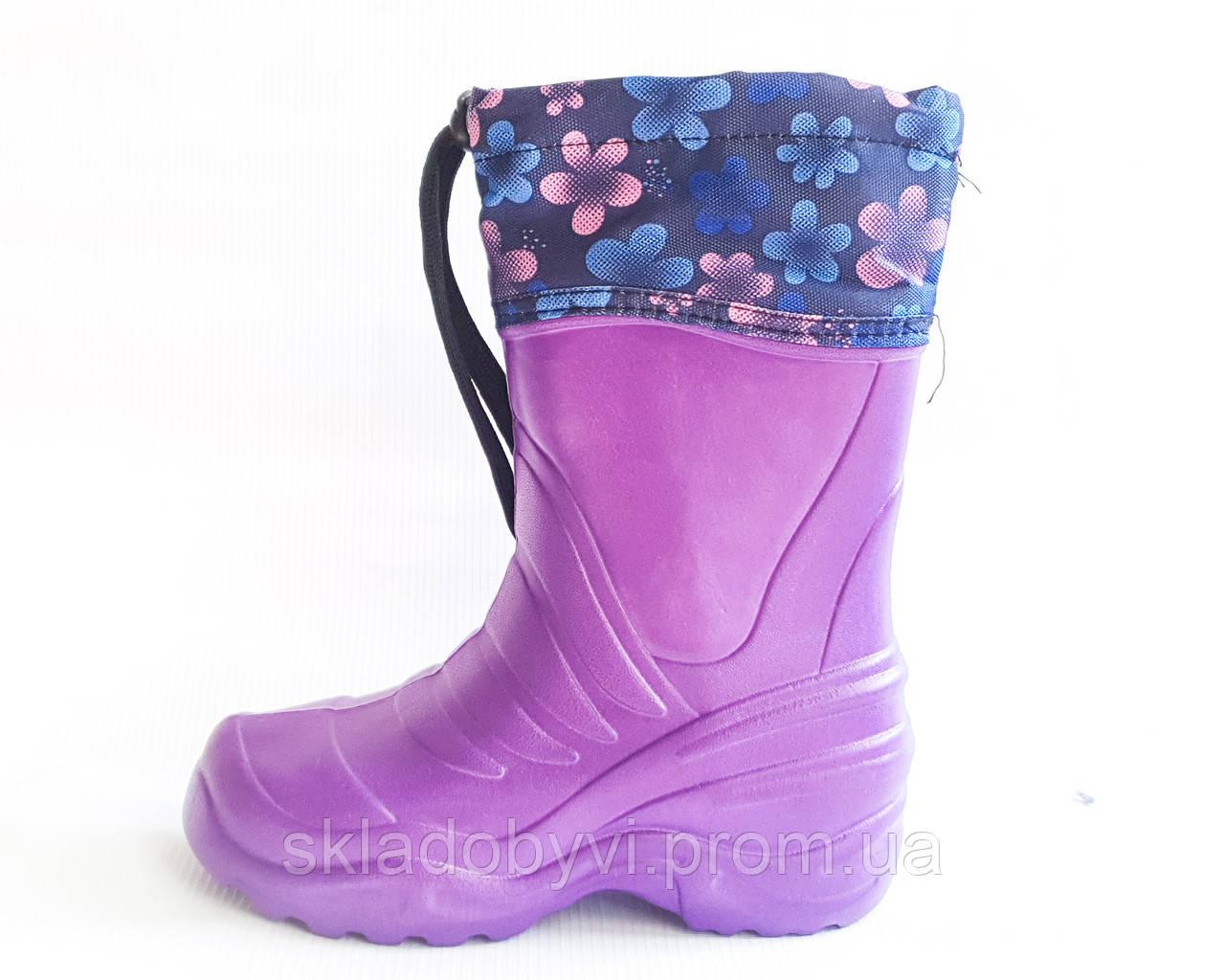 Детские сапожки с пены ЭВА и утеплителем оптом Крок Б4 фиолетовый