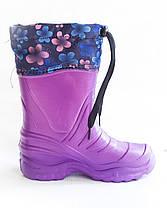 Детские сапожки с пены ЭВА и утеплителем оптом Крок Б4 фиолетовый , фото 3