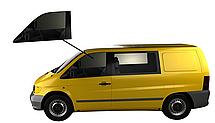 Боковое стекло Mercedes Viano 1996-2003 переднее опускное левое