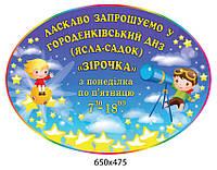 Стенд визитка Звездочка 650х475