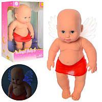 Пупс DEFA хлопчик янголятко, зі світлом, на батарейках в коробці, Angel Baby