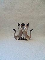 Пара котов деревянных высота 15 см, фото 1