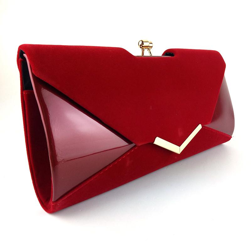 e639b8db4e8f Сумка-клатч красная замшевая лаковая: продажа, цена в Днепре ...