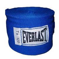 Бинты боксерские (2шт) Эластан ELAST BO-3729-3 (l-3м, красный, синий, черный) Синий