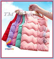 Оптом яркие жилеты теплые (пошив под заказ от 50 шт.), фото 1