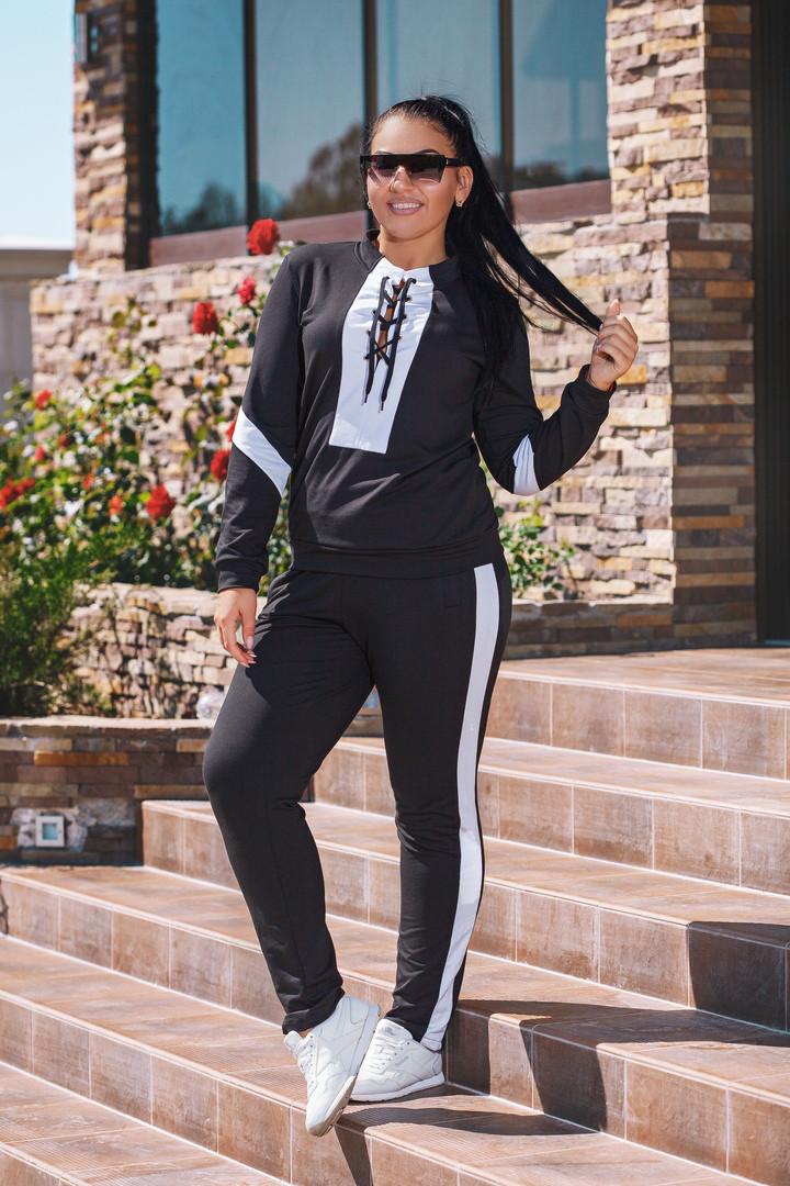 Женский демисезонный спортивный костюм №26-ат0135 БАТАЛ