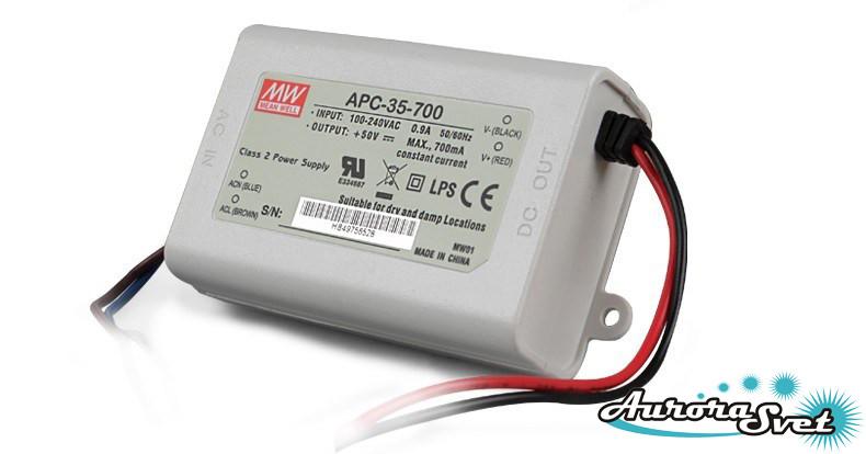 Led драйвер APC-35-700-LED DRIVER-IP42. Драйвер светодиода MEANWELL