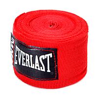 Бинты боксерские (2шт) Эластан ELAST BO-3729-3 (l-3м, красный, синий, черный) Красный