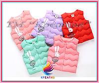 Яркие и красивые детские жилеты оптом (пошив под заказ от 50 шт.), фото 1