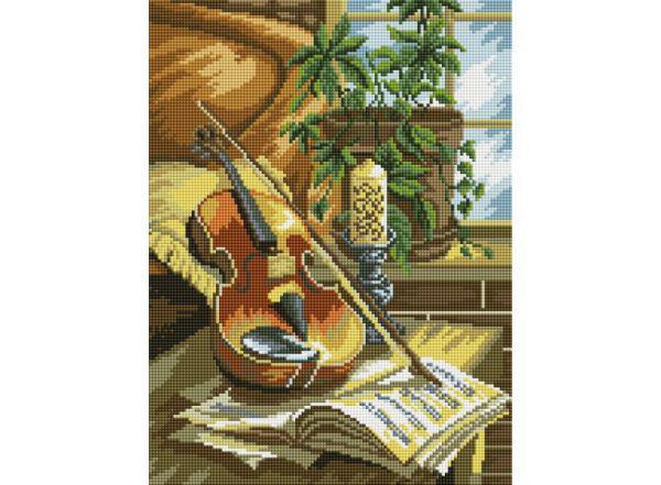 Алмазная вышивка Белоснежка «Натюрморт со скрипкой»