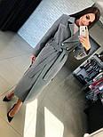 Женское кашемировое пальто с поясом (2 цвета), фото 4