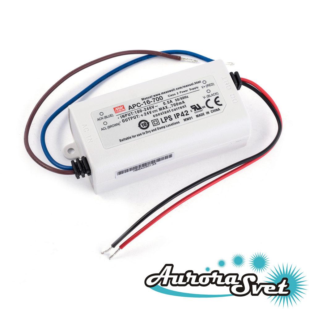 Led драйвер APC-16-700-77.0x40.0x29.0-LED DRIVER. Драйвер светодиода MEANWELL