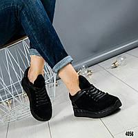 Кроссовки на оригинальной подошве черные, фото 1