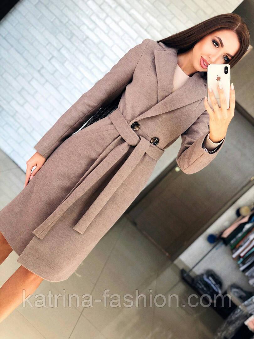 Женское кашемировое пальто с поясом (4 цвета)