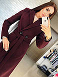 Женское кашемировое пальто с поясом (4 цвета), фото 4