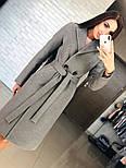 Женское кашемировое пальто с поясом (4 цвета), фото 5