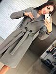 Женское кашемировое пальто с поясом (4 цвета), фото 6