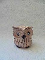 Статуэтка деревянная сова высота 8 см, фото 1