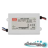 Led драйвер APC-35-500-84.0x57.0x29.5-LED DRIVER. Драйвер світлодіода MEANWELL