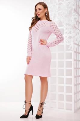 (S-L) В'язане вечірнє світло-рожеве плаття Raisa