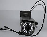Камера наружного наблюдения с креплением серого цвета
